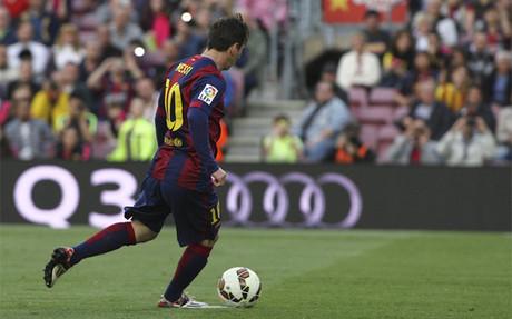 As� transform� Messi el penalti, a lo 'panenka'