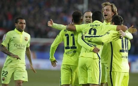 El Bar�a sigue vivo en las tres competiciones: Copa, Liga y Champions