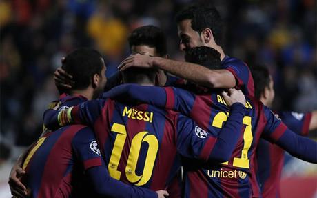 EL FC Barcelona logr� una rotunda victoria