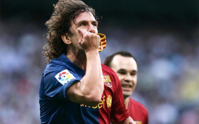 Carles Puyol, autor de uno de los seis goles del FC Barcelona en el Bernab�u