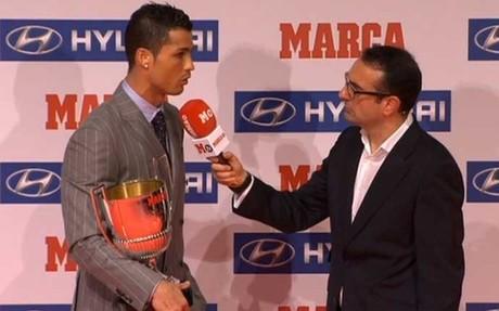 Cristiano recibi� el premio como pichichi