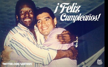Esta es la foto que acompa�a la felicitaci�n del Santos