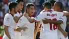 El Sevilla golpea a taconazo limpio al Alav�s