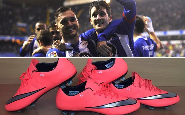 Lucas P�rez y Luis Alberto llevan el mote de 'Zipi y Zape' a sus botas