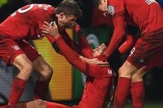M�ller, Lewandowski y Thiago, protagonistas de los goles