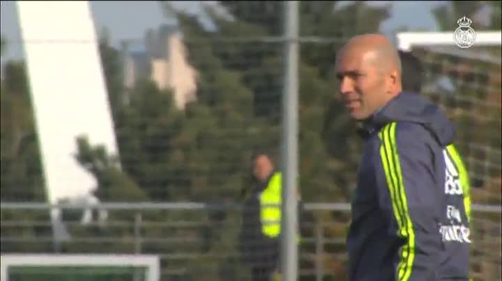 El Real Madrid trabaja en Valdebebas para confirmar el 'efecto Zidane'