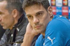 Urko Pardo en la rueda de prensa previa al partido de este mi�rcoles