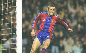 Luis Enrique marcó dos goles al ayudante de Simeone, el Mono Burgos