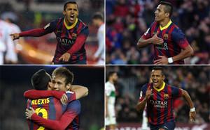 A Alexis Sánchez nadie puede discutirle que no se dejara la piel como jugador del Barça