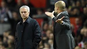 Mourinho y Guardiola se volverán a ver las caras dentro de poco más de un mes