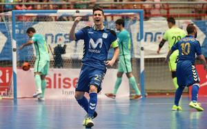 Ortiz marcó el primer gol de Movistar Inter