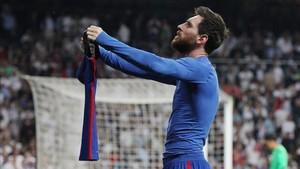 Messi, tras marcar en el Bernabéu