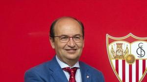 El presidente del Sevilla, José Castro