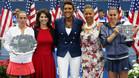 Flavia Pennetta y Roberta Vinci en la entrega de premios del US Open