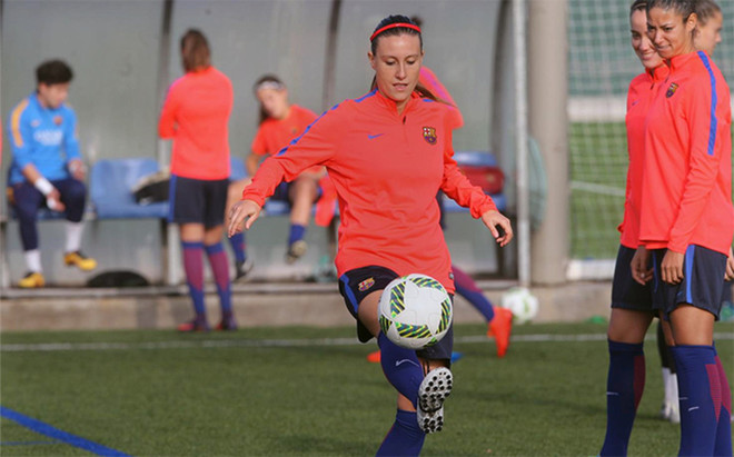 Gemma Gili destac� la dificultad del partido contra el Sporting Huelva