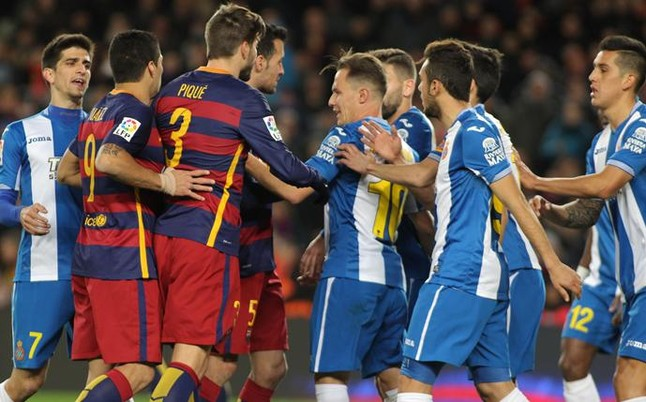 Hubo agresiones en el t�nel de vestuarios del Camp Nou