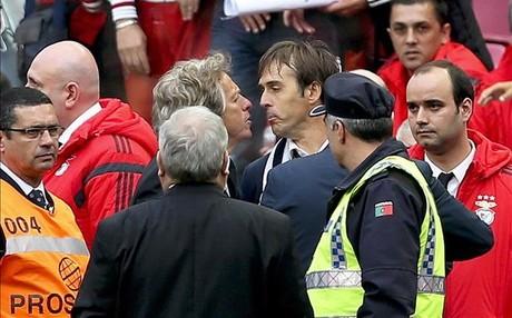 Lopetegui perdi� los nervios a la conclusi�n del Cl�sico portugu�s entre Benfica y Oporto