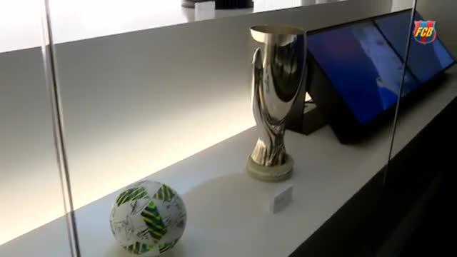 El museo del FC Barcelona expone sus cuatro copas conseguidas esta temporada