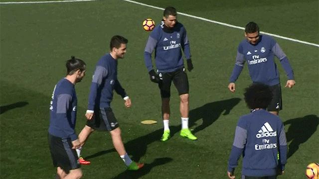 Sergio Ramos no entrena y Zidane confirma su baja ante el Espanyol