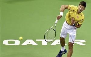 Novak Djokovic durante su partido ante Verdasco