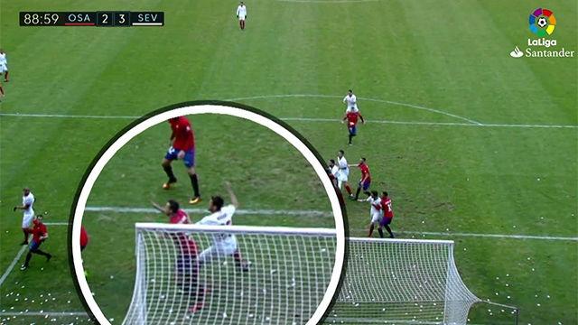 Video resumen: Osasuna se queja de falta en la jugada del 2-3 del Sevilla