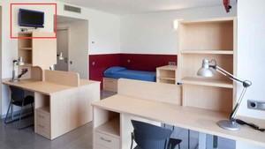 Una habitación de La Masía del FC Barcelona