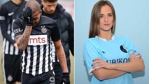 Jelena Polic atacó a Everton Luiz por su reacción tras recibir insultos racistas