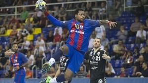 Cédric Sorhaindo, en la primera vuelta contra el Atlético Valladolid