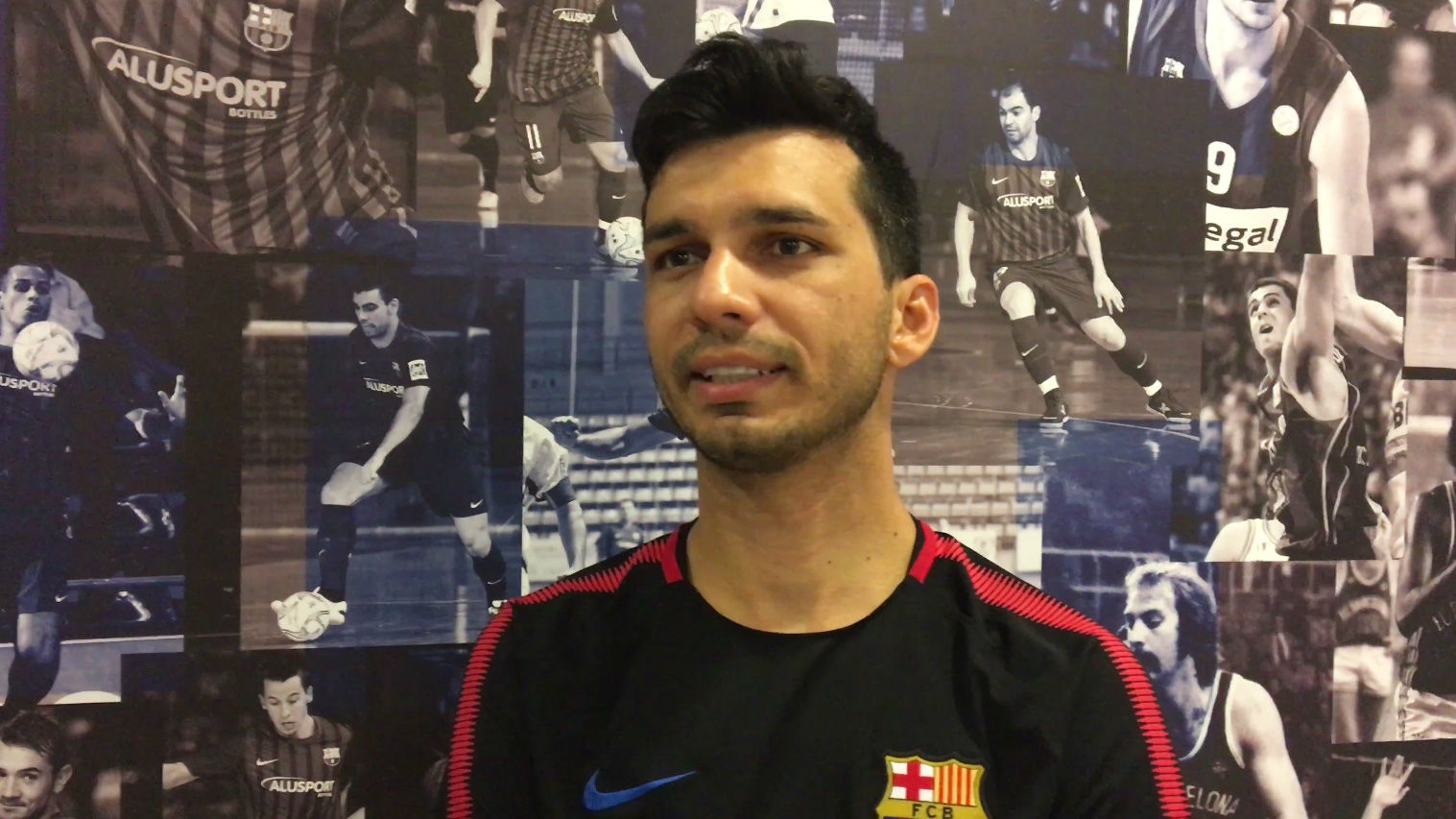 Esquerdinha, feliz por jugar en el Barça Lassa