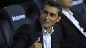 Valverde se mostró cauto pese al 5-0 en el derbi