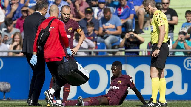 LALIGA   Getafe-Barça (1-2): Dembélé se lesionó contra el Getafe y deberá estar unos tres meses y medio de baja