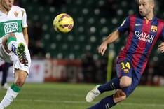 El Bar�a de Luis Enrique ya suma dos partidos de Liga en los que ha anotado seis goles: Granada y Elche
