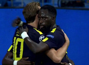 Kane celebra el gol del Tottenham