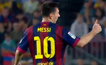 Messi y 'Lucho': La misma acci�n, distintas versiones