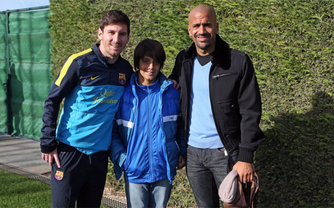 Ver�n, junto a Messi