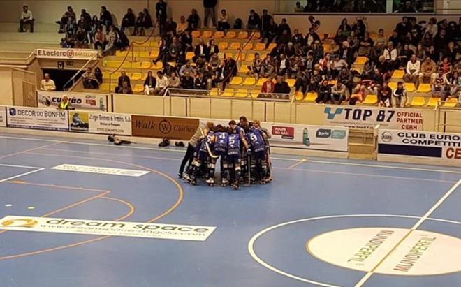 El Vilafranca celebr� la victoria en semifinales ante el Sponting