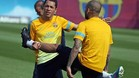 Alves, Adriano y Abidal, bajas definitivas ante el Valladolid