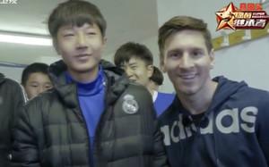 Leo Messi, junto a Li Boix