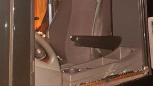 Así quedó el autocar del Servette tras el ataque