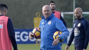 Pepe Mel durante un entrenamiento del Deportivo de La Coruña