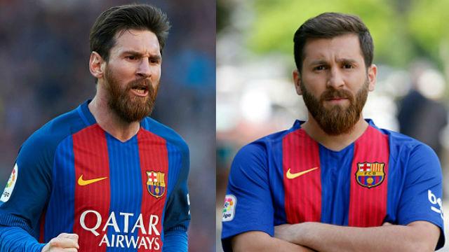 Reza Paratesh empieza a sacar partido de su parecido con Messi
