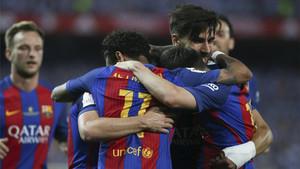 El FC Barcelona no dio opción al Alavés en la final de la Copa del Rey