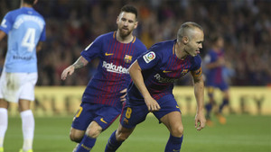 Iniesta se reencontró con el gol frente al Málaga