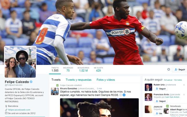 Caicedo 'raja' en Twitter tras el Bar�a-Espanyol de Copa del Rey