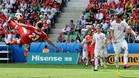 Shaqiri marc� de chilena el mejor gol de la Eurocopa
