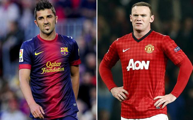Villa podría abaratar el fichaje de Rooney por el Barça AFP/EFE