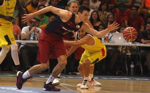 Rodions Kurucs hizo la pretemporada con el primer equipo del FC Barcelona Lassa