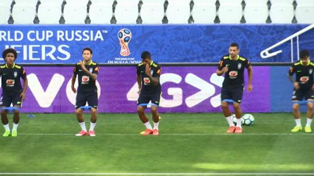 La hipnótica coreografía de la selección brasileña