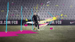 Iniesta, con la nueva equipación del Barça para los entrenamientos