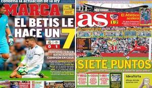 Las dos portadas de la prensa deportiva de Madrid